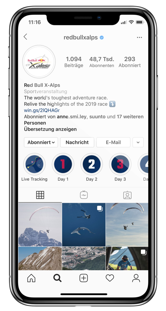 red bull x alps instagram
