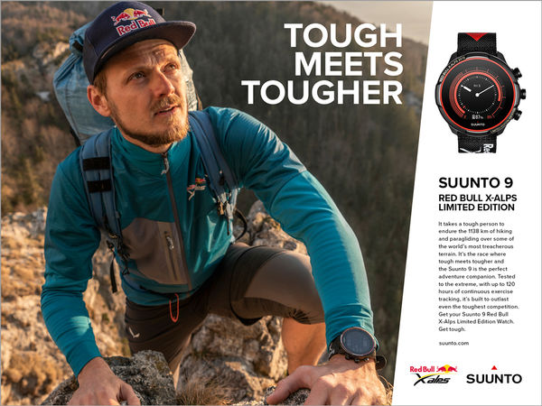 SUUNTO RELEASED 1138 RED BULL X-ALPS LIMITED EDITION WATCHES