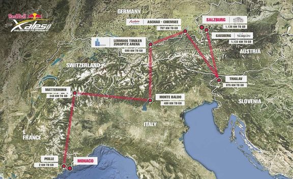 red bull xalps route map