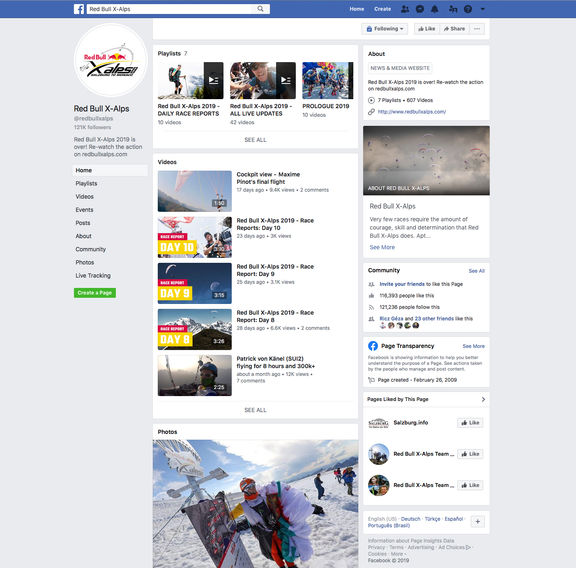 red bull x alps facebook